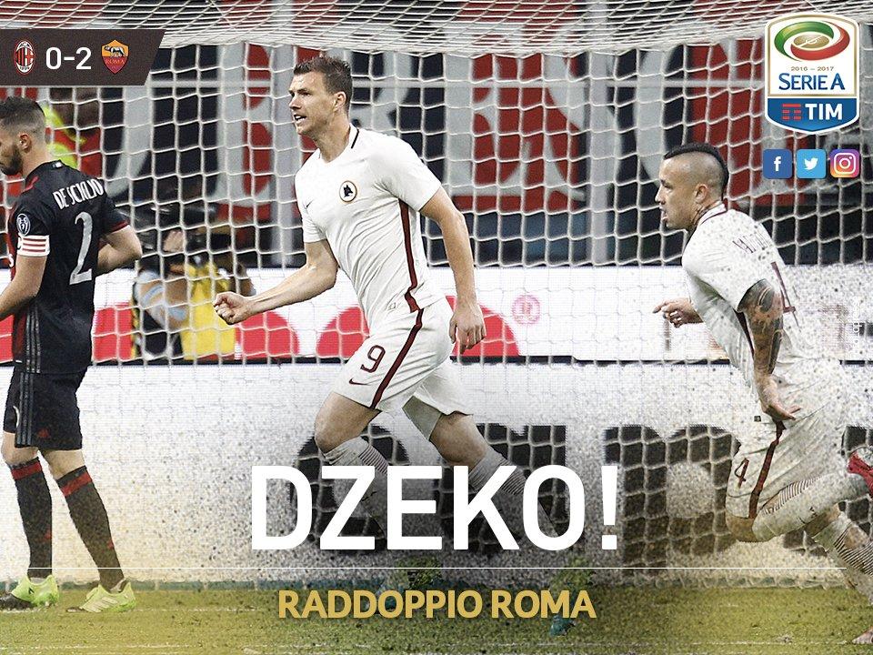 GIF:哲科头球梅开二度,罗马2-0米兰