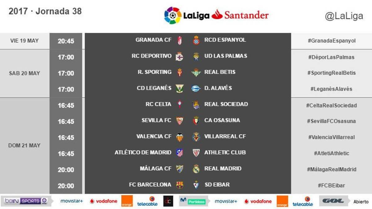 西甲末轮比赛时间确定:皇马巴萨5月22日2点