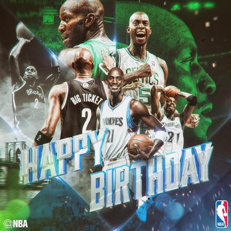 NBA官方祝加内特生日快乐
