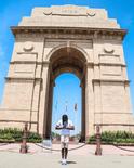 掘金官方晒法里德印度旅行照