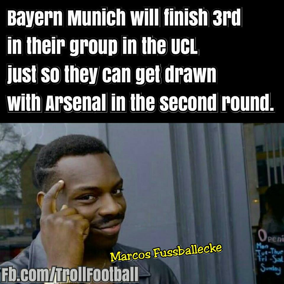 拜仁:下赛季欧冠比赛,我只要小组第三,就又能去找阿森纳了