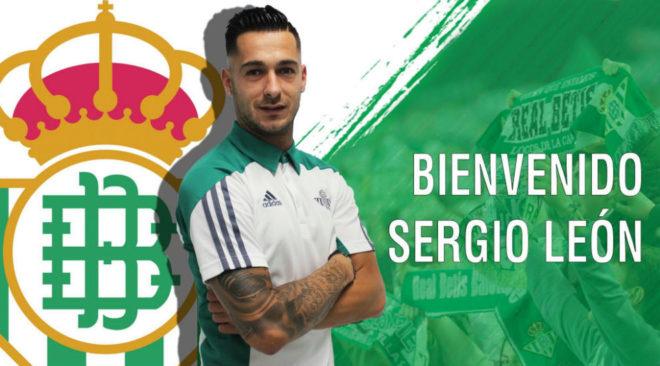 官方:贝蒂斯签下奥萨苏纳前锋塞尔希奥-莱昂
