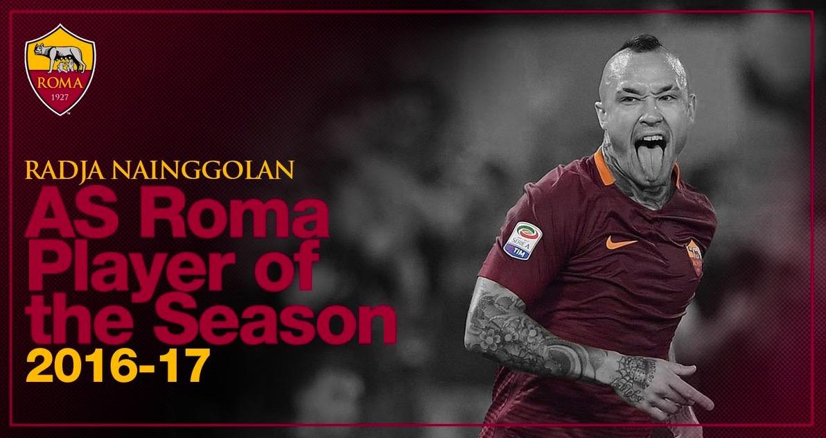 官方:纳因戈兰当选罗马2016/17赛季最佳球员