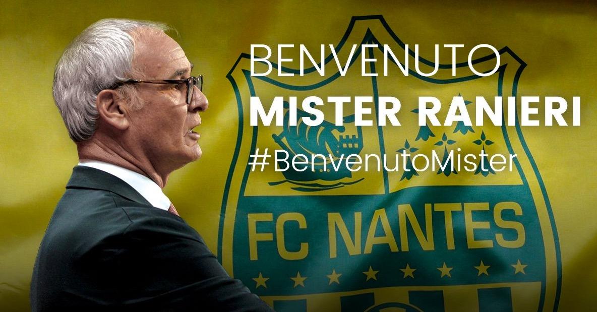 官方:南特任命意大利教练拉涅利为球队主帅