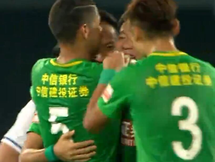GIF:张池明登场即破门,国安2-0贵州