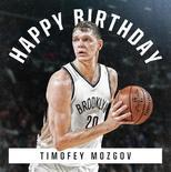 篮网官方晒图祝莫兹戈夫31岁生日快乐
