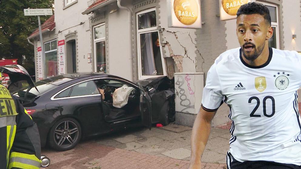 图片报:贝拉拉比弟弟驾车将餐厅墙壁撞毁_虎扑