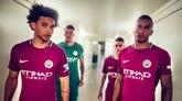 官方:曼城发布2017/18赛季玫瑰色客场球衣