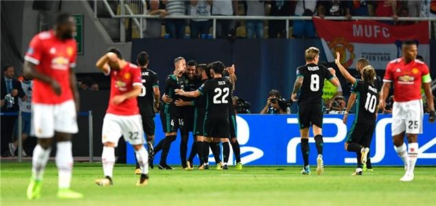 欧超杯:伊斯科卡塞米罗建功卢卡库破门,皇马2-1曼联捧杯