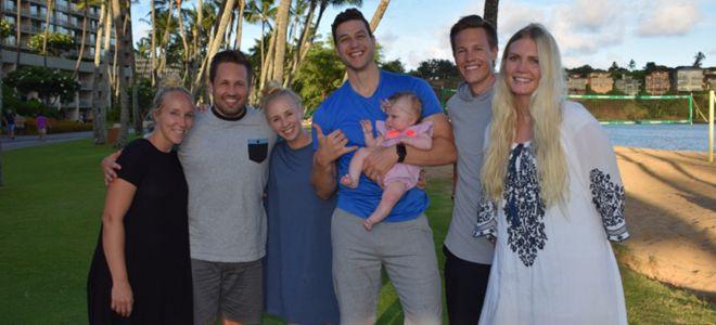 弗雷戴特晒与家人在夏威夷度假照