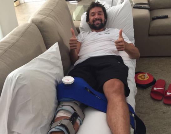 塞尔吉奥-尤伊:手术很成功,感谢家人的陪伴!