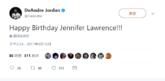 小乔丹:祝詹妮弗-劳伦斯27岁生日快乐!
