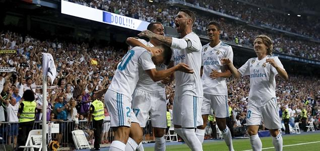 西超杯:阿森西奥世界波,皇马2-0总比分5-1大胜巴萨夺冠