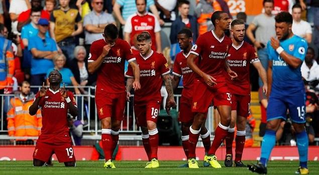 菲尔米诺萨拉赫传射,利物浦大胜4-0阿森纳