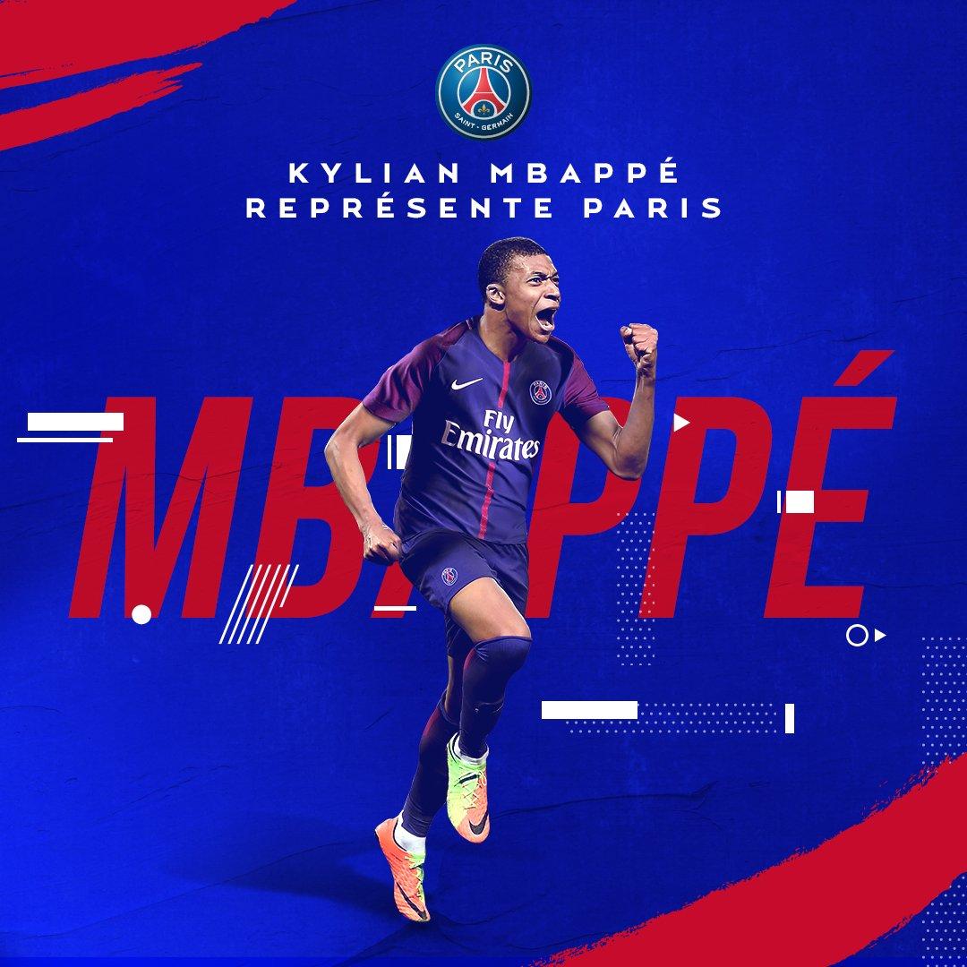 官方:巴黎圣日耳曼先租后买签下摩纳哥前锋姆巴佩