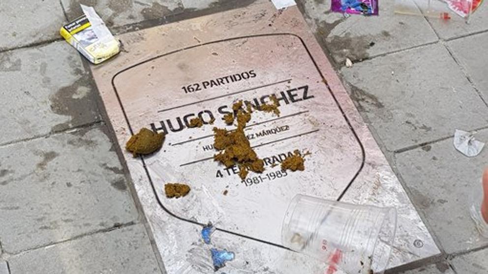 如此致敬?阿圭罗等人铭牌被马竞球迷破坏