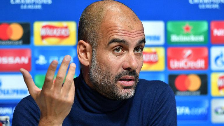 瓜帅:现在拿曼城对比巴萨、拜仁还太早了