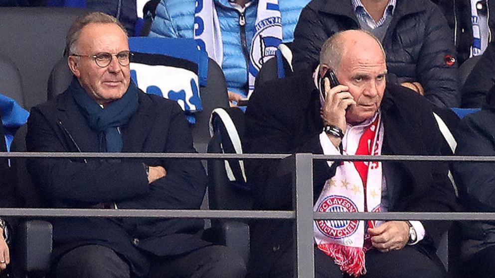 赫内斯接电话后与鲁梅尼格耳语,新帅或敲定?