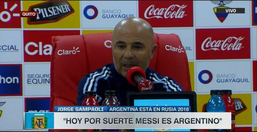 桑保利:我告诉全队,足球欠一个梅西世界杯,我们要帮他