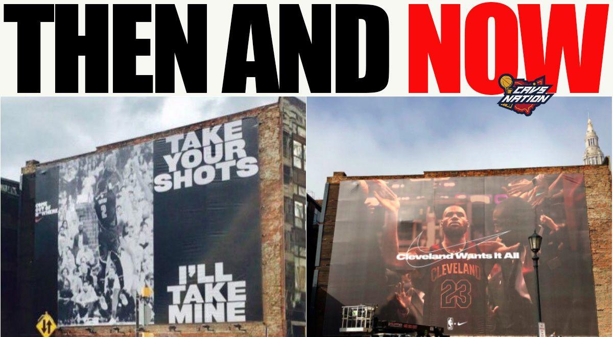 媒体晒克利夫兰海报今昔对比:詹姆斯取代欧文