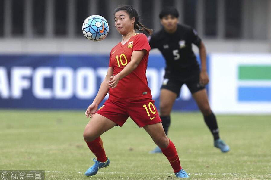 女足亚青赛:刘婧连场破门,中国2-0泰国获两连胜