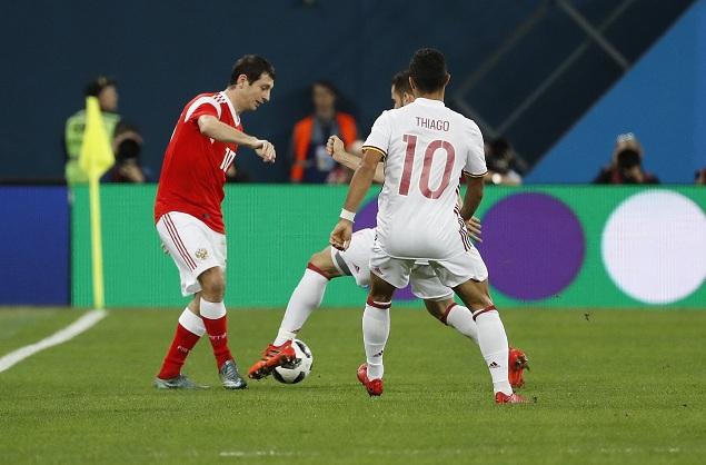 友谊赛:拉莫斯点射梅开二度,西班牙客场3-3俄罗斯