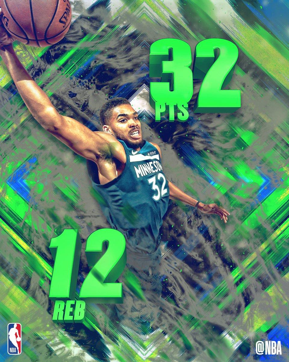 NBA官方评选本日最佳数据:唐斯拿下32+12当选