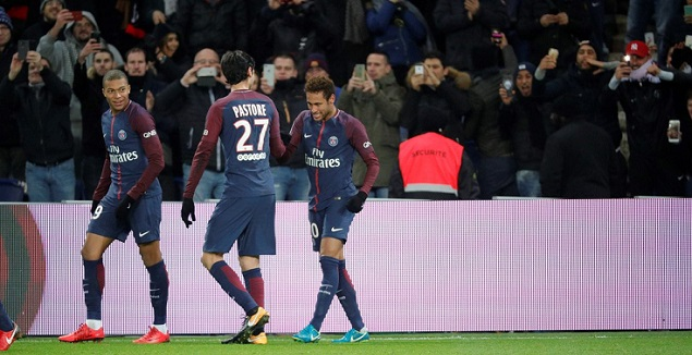 内马尔传射卡瓦尼进球+丢点,巴黎圣日耳曼2-0