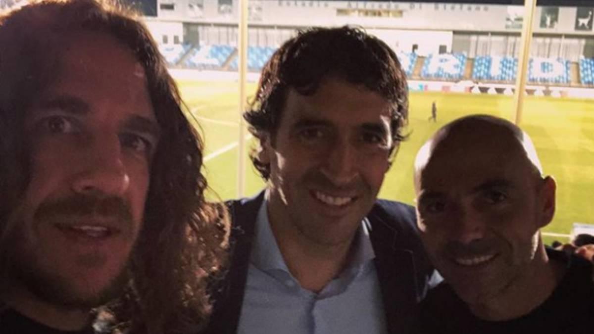 好友相伴,劳尔普约尔和德拉佩纳共同观看皇马青年队比赛