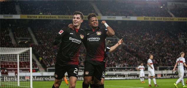 德甲:哈弗茨建功贝利两送助攻,勒沃库森2-0客胜斯图加特