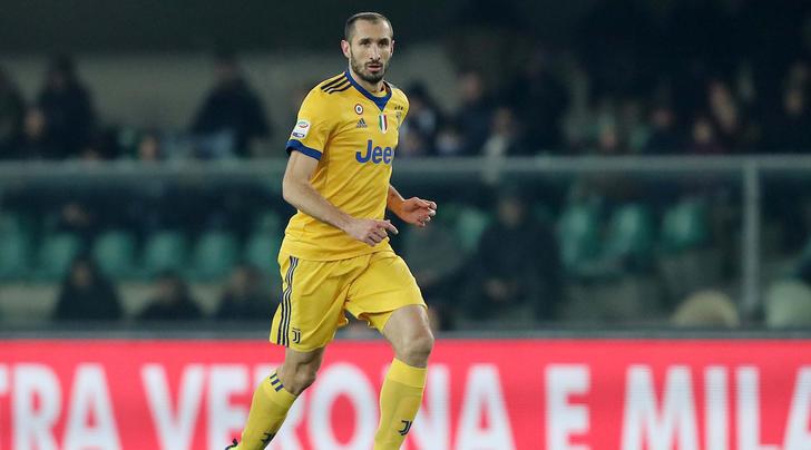 本赛季首次,尤文首发只有基耶利尼一名意大利人
