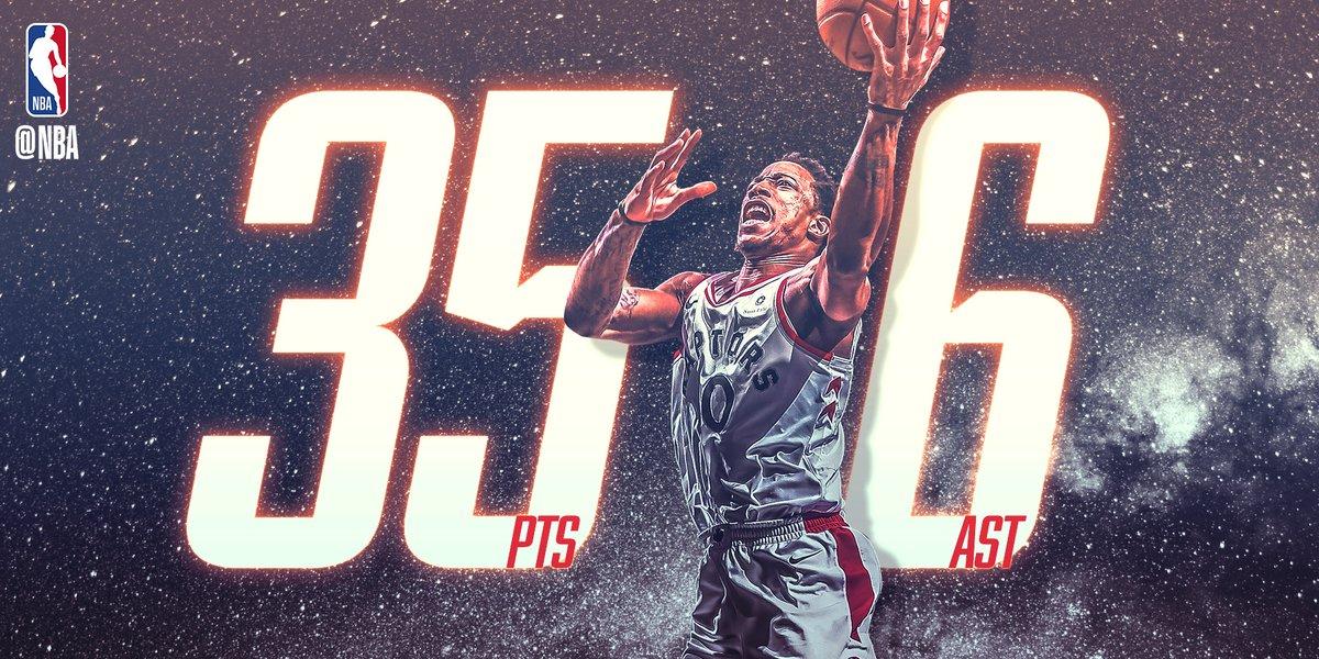 NBA官方评出今日最佳数据:德罗赞35+6当选