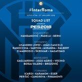 国米对阵罗马大名单:丹布罗西奥和米兰达伤愈