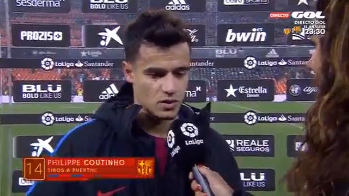 库蒂尼奥:很开心能够用进球帮助巴萨进入决赛