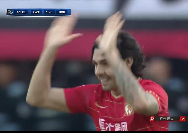 GIF:进球总会来!高拉特甩头破门,恒大1-0武里南