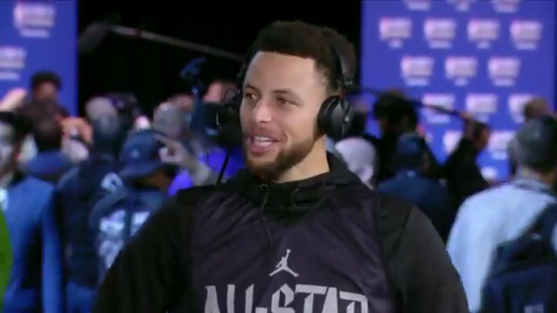 库里:想和KD在全明星同队,但击败他也不错