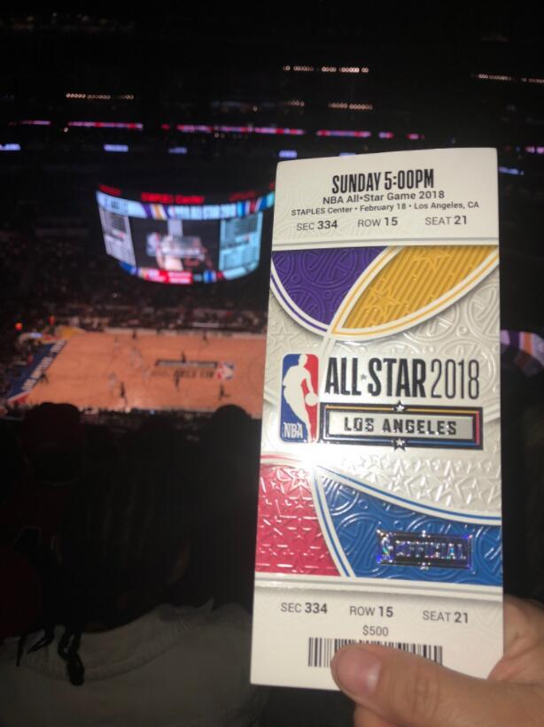 洛杉矶全明星最后一排票价500美元