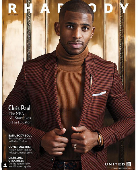 保罗晒出自己为《Rhapsody》杂志拍摄的封面照