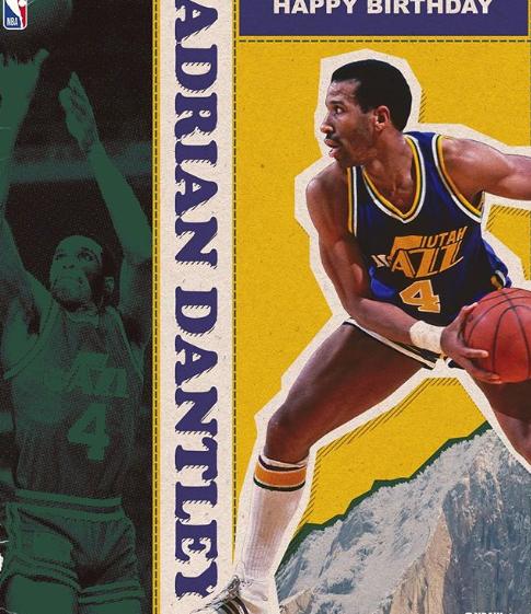 NBA祝名宿阿德里安-丹特利62岁生日快乐