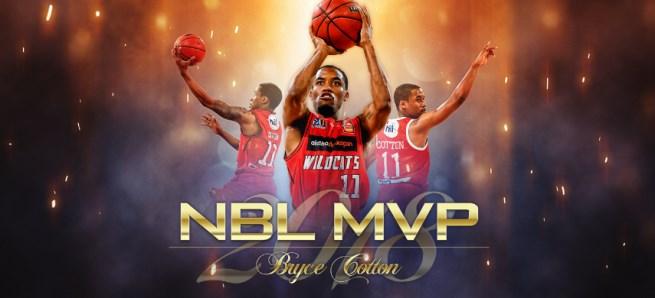 前NBA球员布赖斯-科顿荣获NBL赛季MVP