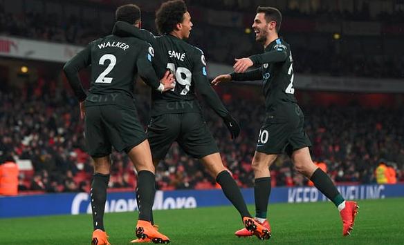 萨内传射奥巴梅扬失点,曼城客场3-0赛季三杀阿森纳