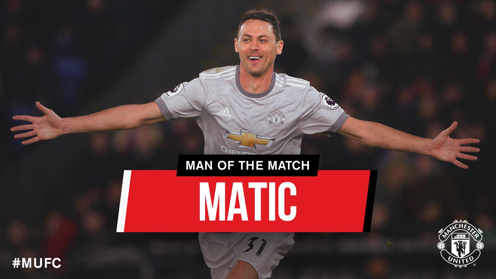 绝杀功臣!马蒂奇被球迷票选为曼联全场最佳