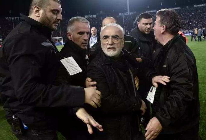 希腊体育部宣布希腊超级联赛因PAOK主席持枪抗议裁判暂停