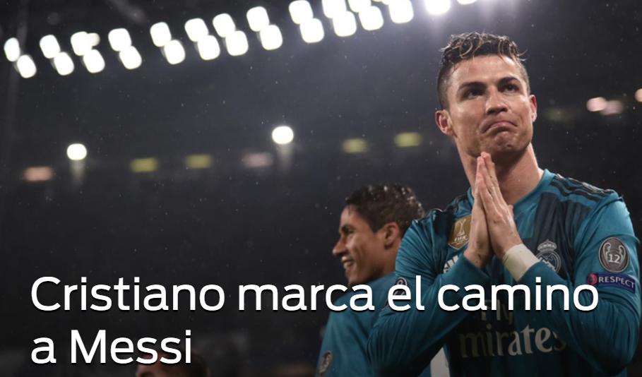 每体评论C罗欧冠精彩发挥:C罗为梅西指明道路