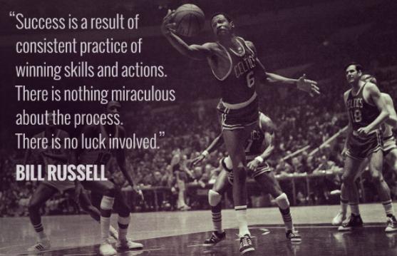 海沃德分享拉塞尔名言:成功是持续训练的成果