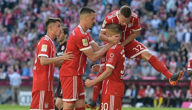 瓦格纳拉菲尼亚同献传射,拜仁4-1赛季双杀法兰克福