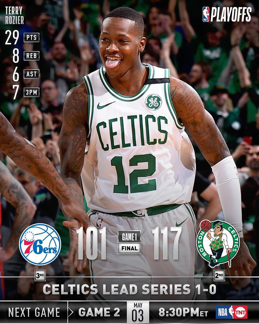 NBA官方发布东部半决赛首战比赛综述图