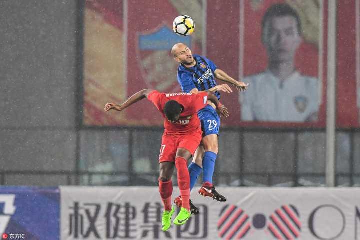 半场:王晓龙小角度打门中柱,权健0-0苏宁
