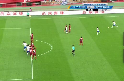 GIF:越位?鲁能任意球,吉尔头球破门,鲁能领先