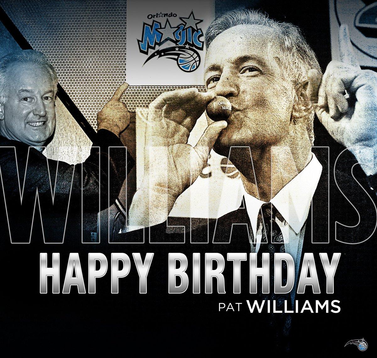 魔术官方祝帕特-威廉姆斯生日快乐
